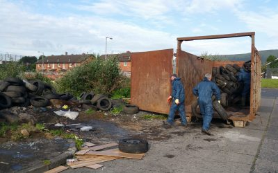 Shankill Bonfire Collectors Want Tyres Removed from Bonfire Site