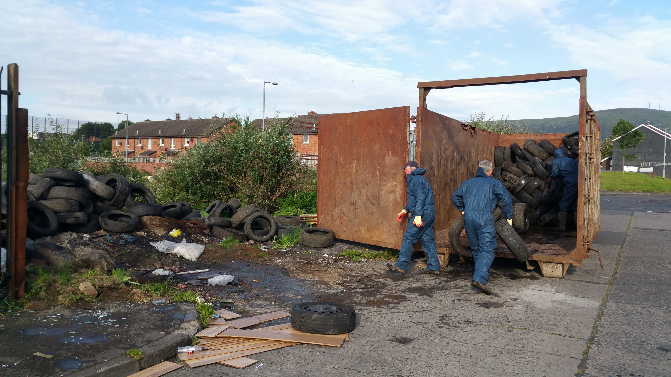 Tyres removed after agreement with bonfire